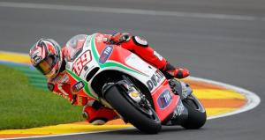 Nicky Hayden was the only man in action on the final day of 2012 testing