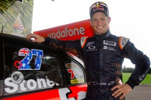 Stoner has had a day testing a V8 Supercar in Brisbane
