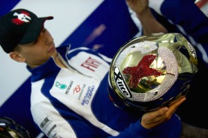 Lorenzo was using X-Lite helmets from 2007, but not anymore...
