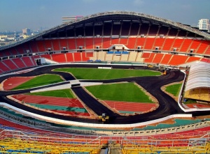 The Rajamangala Stadium which will host the 2013 Race of Champions in Bangkok