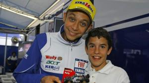 Marquez will have to get used to racing the likes of Rossi and his heroes every week next season.
