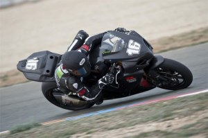 Jules Cluzel in action on his GSX-R1000.