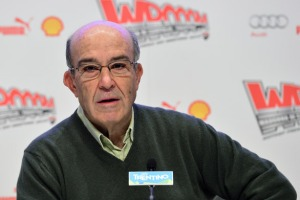 Carmelo Ezpeleta was on hand at the Wrooom event to speak about both MotoGP and SBK.