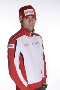 Ben Spies in Ducati colours for the first time.
