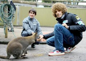 Simon and Super Sic at a pre race event in Australia back in 2009.
