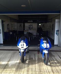 The Ambrogio Suter Honda's of Brad Binder and Danny Webb.