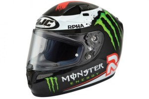 The replica helmet of the 2012 MotoGP world champion.