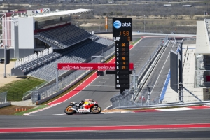 MotoGP rookie Marc Marquez was the quickest during the first day at COTA.