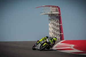 Valentino Rossi in action at the Circuit of the Americas.