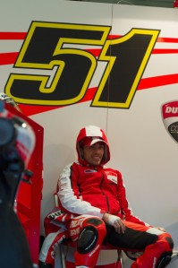 Pirro will be in red at Jerez, not white as expected.
