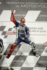 Lorenzo was flying during the opening round under the lights in Qatar.