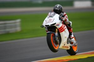 Marc Marquez got his MotoGP debut in the post race test in Valencia.