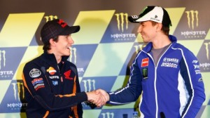 The World Championship leader, and the World Champion shook hands in Le Mans.