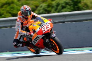 Marc Marquez was the fastest rider today in Jerez ahead of Crutchlow and Lorenzo.
