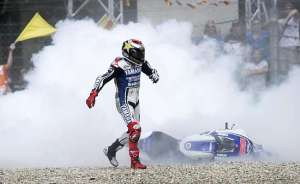 Last year Lorenzo lost a fresh engine at Assen after being T-Boned by Bautista.
