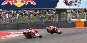 Dani Pedrosa couldn't live with the pace of his new team mate in Texas.