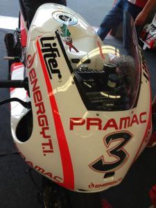 The Pramac bike Max Biaggi will be riding in Mugello.