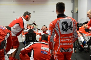 Dovi will have to wait until at least the Monday before he can get his hands back on the Ducati 'lab bike'.