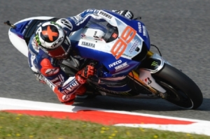 Jorge Lorenzo was the quickest rider in Montmelo today.