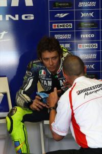 Valentino Rossi wasn't afriad to be critical of Bridgestone despite personal sponsorship from them.