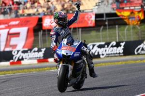 Lorenzo led from start to finish in Montmelo this afternoon.