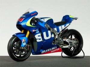 The 2013 Suzuki HRH1 that is being tested by Randy De Puniet today in Montmelo.