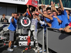 Jorge in Phillip Island last year as he claimed his second MotoGP crown.