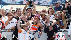 Marc Marquez today claimed his forth win of the season.