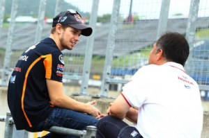 A lot over nothing - both days were rained off for Casey Stoner.