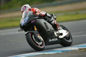 Casey Stoner has finally managed to get a clear day of testing in, in Motegi.